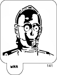 MR. HAIR ART STENCIL - C3PO