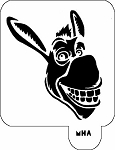 MR. HAIR ART STENCIL - DONKEY FROM SHREK