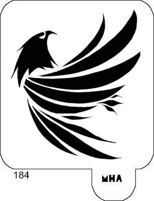 HAIR ART STENCIL - EAGLE 2  Eagle Head Stencil