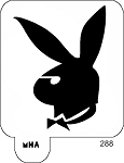 Mr. HAIR ART STENCIL - Playboy Logo