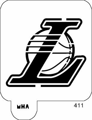 Mr HAIR ART STENCIL  Los Angeles Lakers Logo 2