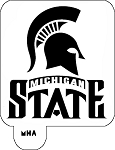 Mr. HAIR ART STENCIL -  Michigan State Spartans Logo