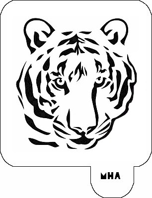 MR. HAIR ART STENCIL - TIGER 1