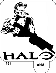 MR. HAIR ART STENCIL - HALO
