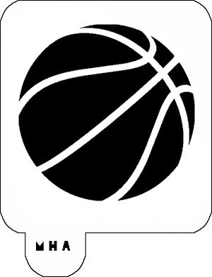 MR. HAIR ART STENCIL - BASKET BALL