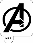 MR. HAIR ART STENCIL - AVENGERS LOGO