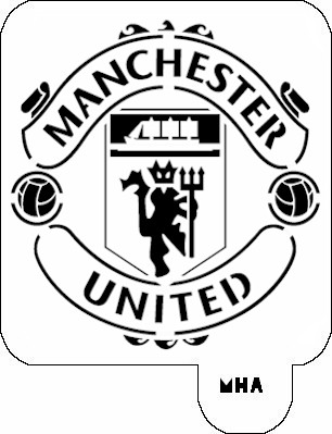 Mr Hair Art Stencil Manchester United Logo Mha 575