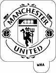 MR. HAIR ART STENCIL - MANCHESTER UNITED LOGO