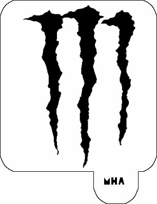 MR. HAIR ART STENCIL - MONSTER ENERGY LOGO