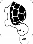 MR. HAIR ART STENCIL - TURTLE