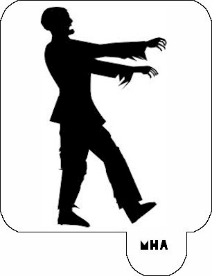 MR. HAIR ART STENCIL - ZOMBIE 1