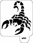MR. HAIR ART STENCIL - SCORPION 2