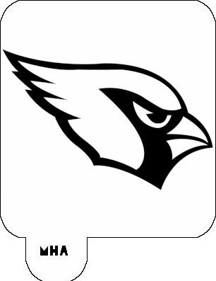 Mr hair art stencil arizona cardinals