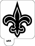 MR. HAIR ART STENCIL - NEW ORLEANS SAINTS