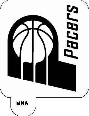 MR. HAIR ART STENCIL - INDIANA PACERS