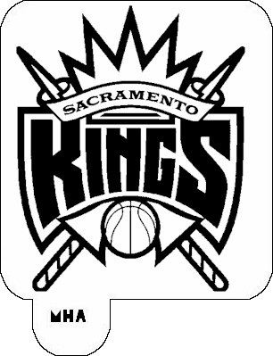MR. HAIR ART STENCIL - SACRAMENTO KINGS