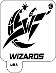 MR. HAIR ART STENCIL - WASHINGTON WIZARDS