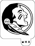 MR. HAIR ART STENCIL - FLORIDA STATE SEMINOLES