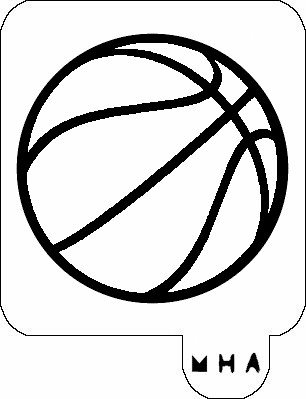 MR. HAIR ART STENCIL - BASKET BALL 2