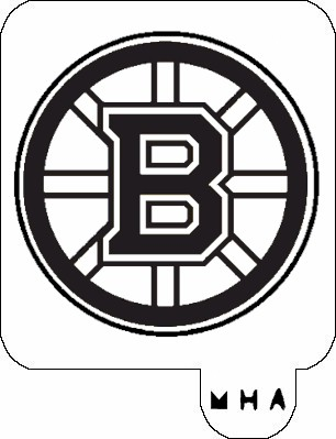 MR. HAIR ART STENCIL - BOSTON BRUINS