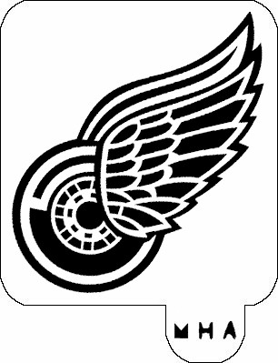 MR. HAIR ART STENCIL - DETROIT RED WINGS
