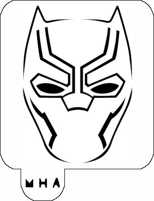 MR. HAIR ART STENCIL - BLACK PANTHER MASK