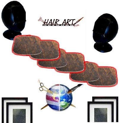 Hair Art Cow-Hide - Cut Outs (Practice Hair Art) DEAL