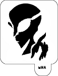 MR. HAIR ART STENCIL - ALIEN 1