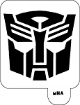 MR. HAIR ART STENCIL - AUTOBOTS LOGO