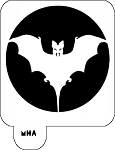 MR. HAIR ART STENCIL - BAT 2