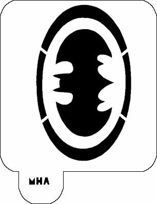 mr hair art stencil batman symbol