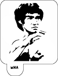 MR. HAIR ART STENCIL - BRUCE LEE 1
