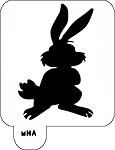 MR. HAIR ART STENCIL - BUNNY RABBIT