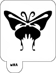 MR. HAIR ART STENCIL - BUTTERFLY 1