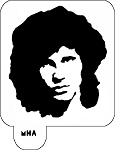 MR. HAIR ART STENCIL - JIM MORRISON