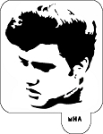 MR. HAIR ART STENCIL - ELVIS PRESLEY 3