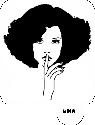 MR. HAIR ART STENCIL - LADY SHHH