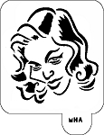 MR. HAIR ART STENCIL - CREEPY WOMAN 2