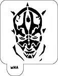 MR. HAIR ART STENCIL - DARTH MAUL
