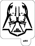MR. HAIR ART STENCIL - DARTH VADER 2