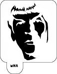 MR. HAIR ART STENCIL - DR SPOCK 2