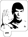 MR. HAIR ART STENCIL - DR SPOCK