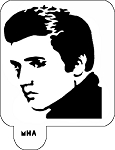 MR. HAIR ART STENCIL - ELVIS PRESLEY 1