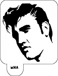 Mr. HAIR ART STENCIL - Elvis Presley 2