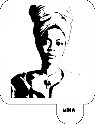 Mr. HAIR ART STENCIL - Erykah Badu