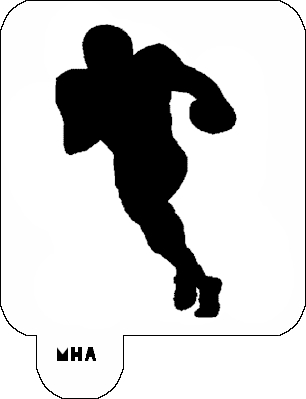 Mr. HAIR ART STENCIL - Football Player