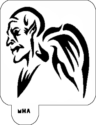Mr. HAIR ART STENCIL - Gargoyle 1