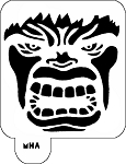 Mr. HAIR ART STENCIL - Hulk Face