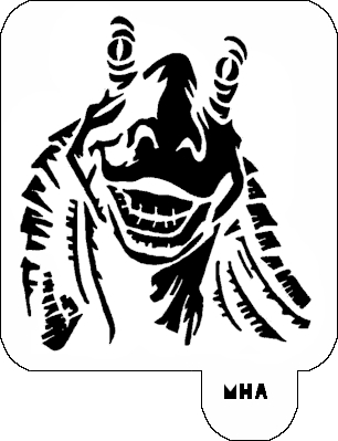 Mr. HAIR ART STENCIL - Jar Jar Binks