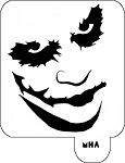 Mr. HAIR ART STENCIL - Joker Face